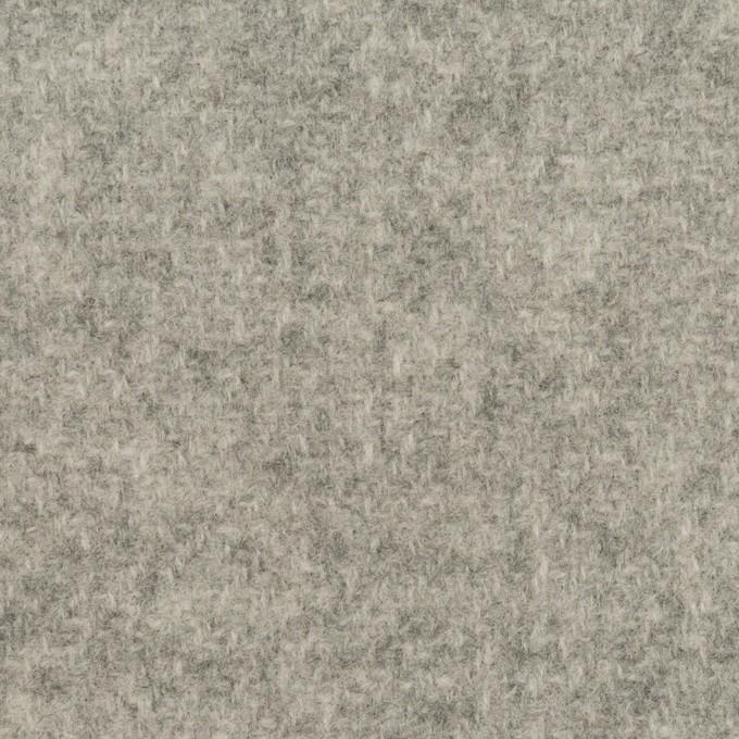 ウール×無地(ライトグレー&ミルク)×かわり織(Wフェイス) イメージ1