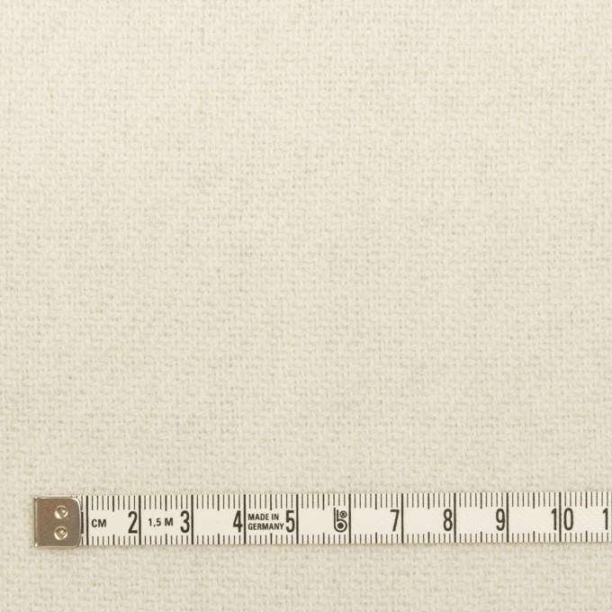 ウール×無地(ライトグレー&ミルク)×かわり織(Wフェイス) イメージ6