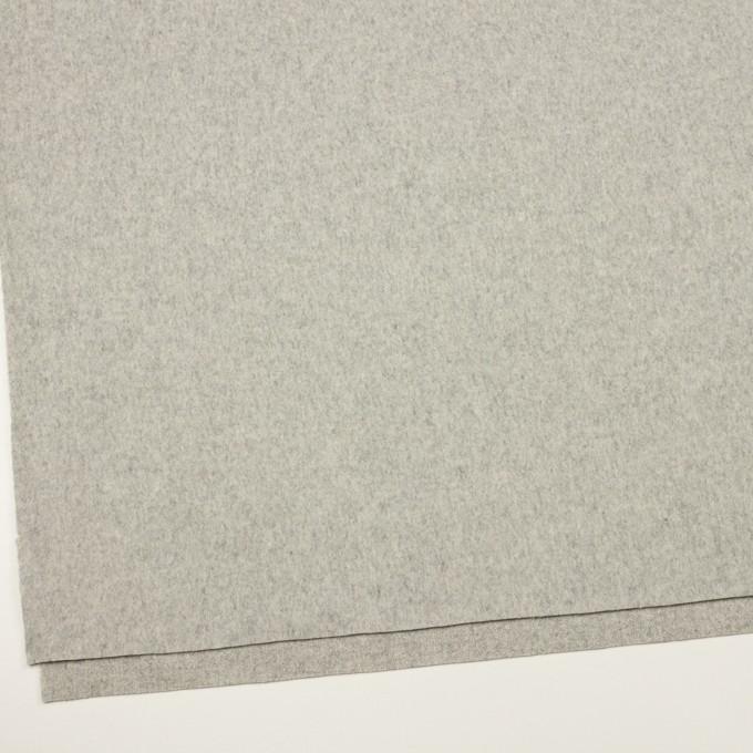 ウール&カシミア×無地(ライトグレー)×フラノ(フランネル) イメージ2