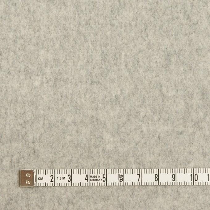 ウール&カシミア×無地(ライトグレー)×フラノ(フランネル) イメージ4