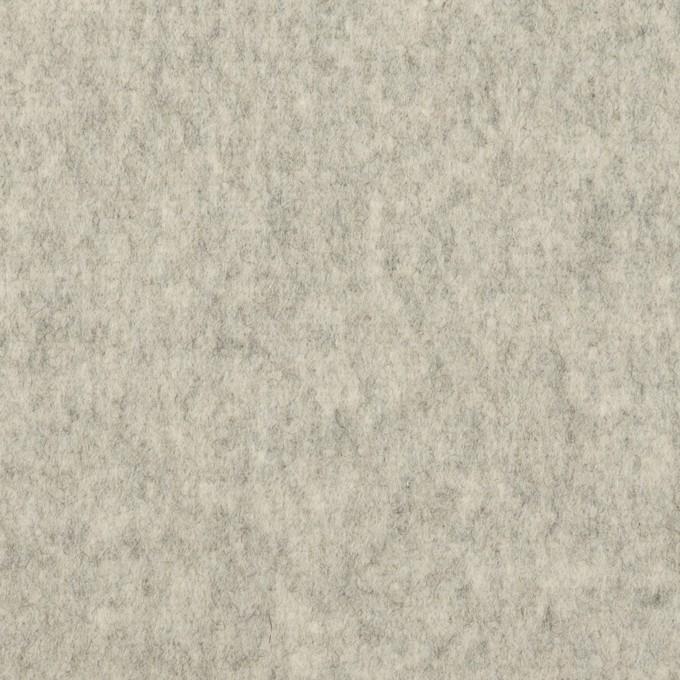 ウール&カシミア×無地(ライトグレー)×フラノ(フランネル) イメージ1