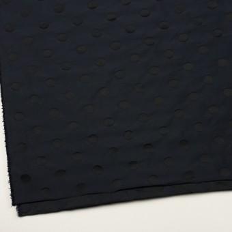 ポリエステル×水玉(ネイビー&ブラック)×形状記憶ジャガード_全2色 サムネイル2