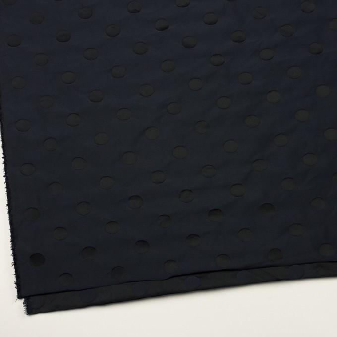 ポリエステル×水玉(ネイビー&ブラック)×形状記憶ジャガード_全2色 イメージ2