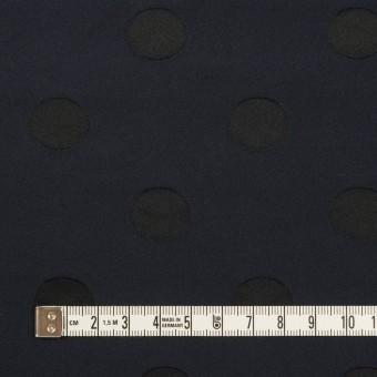 ポリエステル×水玉(ネイビー&ブラック)×形状記憶ジャガード_全2色 サムネイル4
