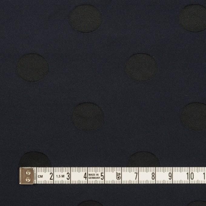 ポリエステル×水玉(ネイビー&ブラック)×形状記憶ジャガード_全2色 イメージ4