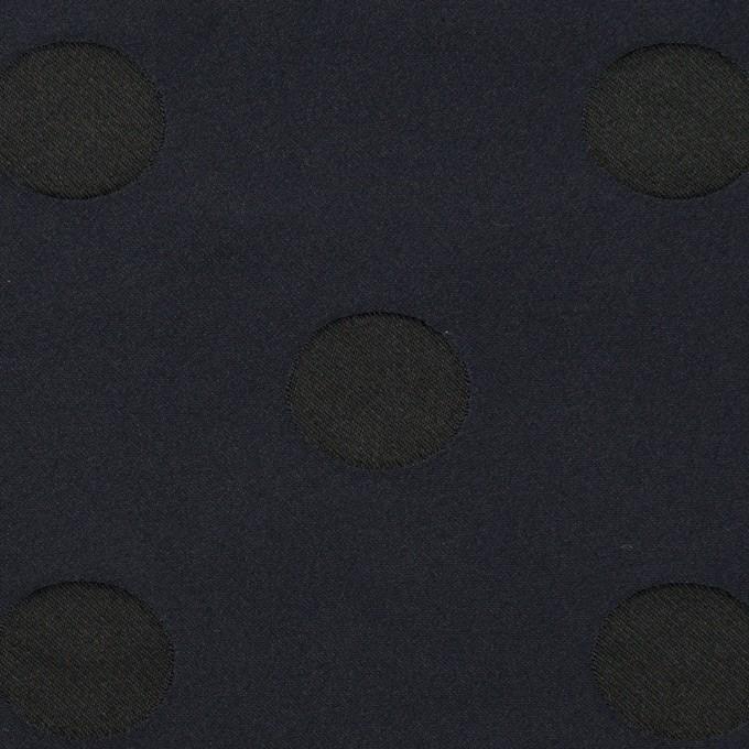 ポリエステル×水玉(ネイビー&ブラック)×形状記憶ジャガード_全2色 イメージ1