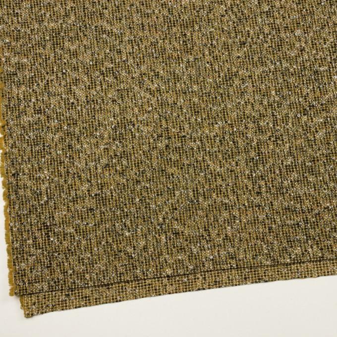 ウール&ポリエステル混×ミックス(オリーブ&ブラック)×かわり織 イメージ2