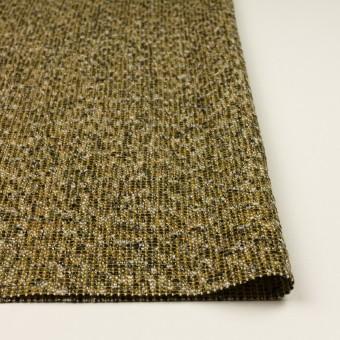 ウール&ポリエステル混×ミックス(オリーブ&ブラック)×かわり織 サムネイル3
