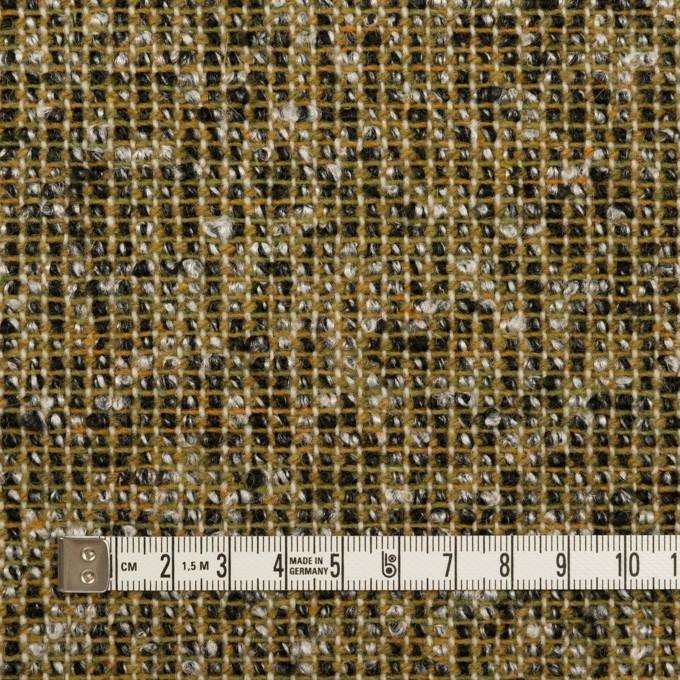 ウール&ポリエステル混×ミックス(オリーブ&ブラック)×かわり織 イメージ4