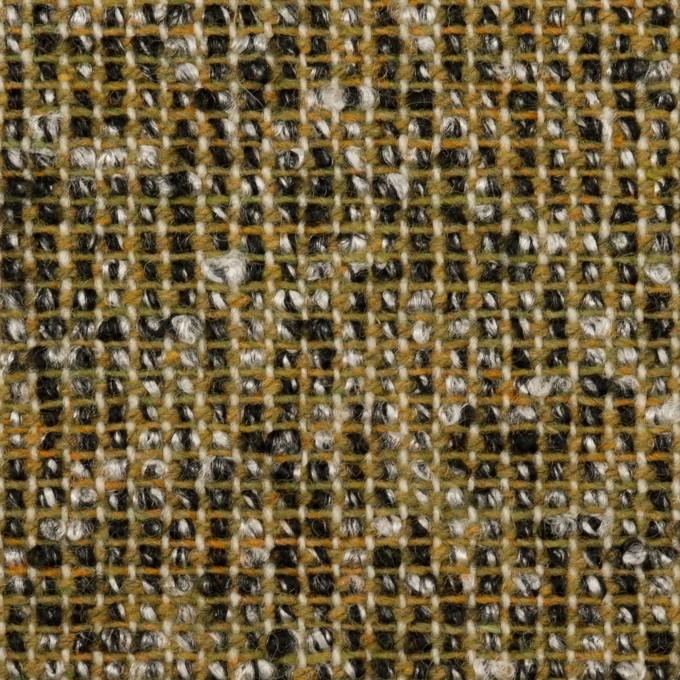 ウール&ポリエステル混×ミックス(オリーブ&ブラック)×かわり織 イメージ1