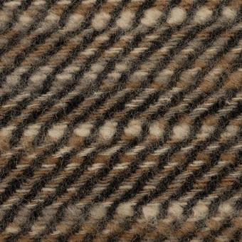 ウール×ミックス(ブラウン)×かわり織