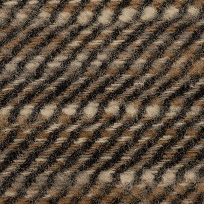 ウール×ミックス(ブラウン)×かわり織 イメージ1