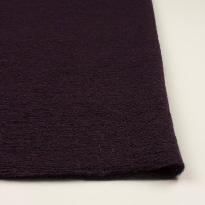 モヘア&ウール混×無地(レーズン)×ループニット_全2色_イタリア製 イメージ3