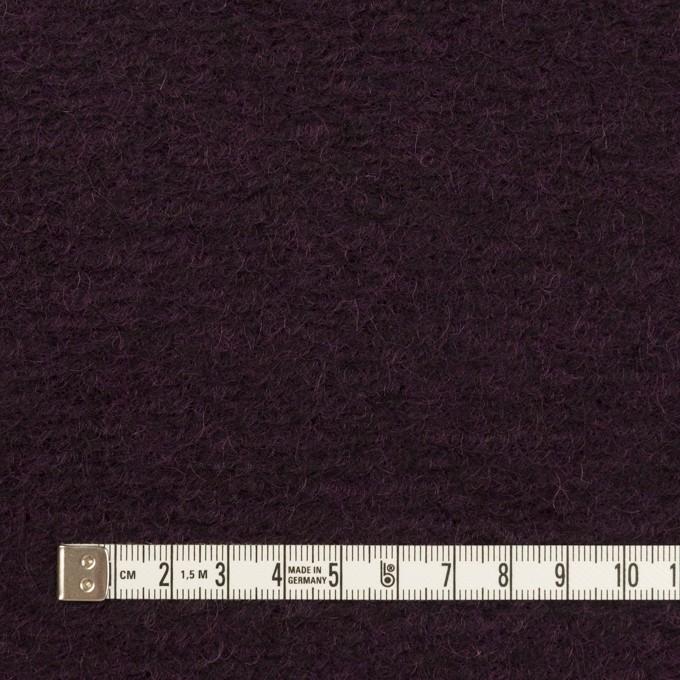 モヘア&ウール混×無地(レーズン)×ループニット_全2色_イタリア製 イメージ4