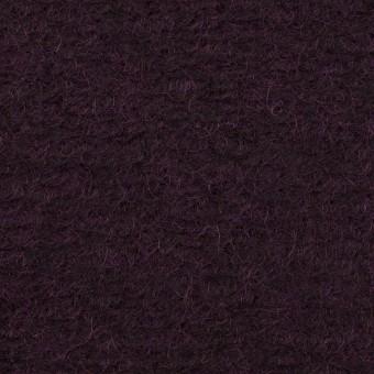モヘア&ウール混×無地(レーズン)×ループニット_全2色_イタリア製