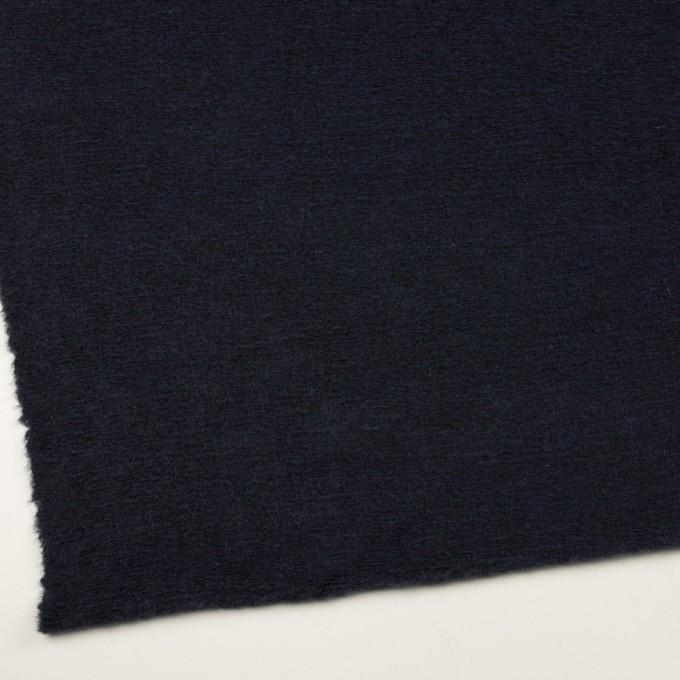 モヘア&ウール混×無地(アッシュネイビー)×ループニット_全2色_イタリア製 イメージ2