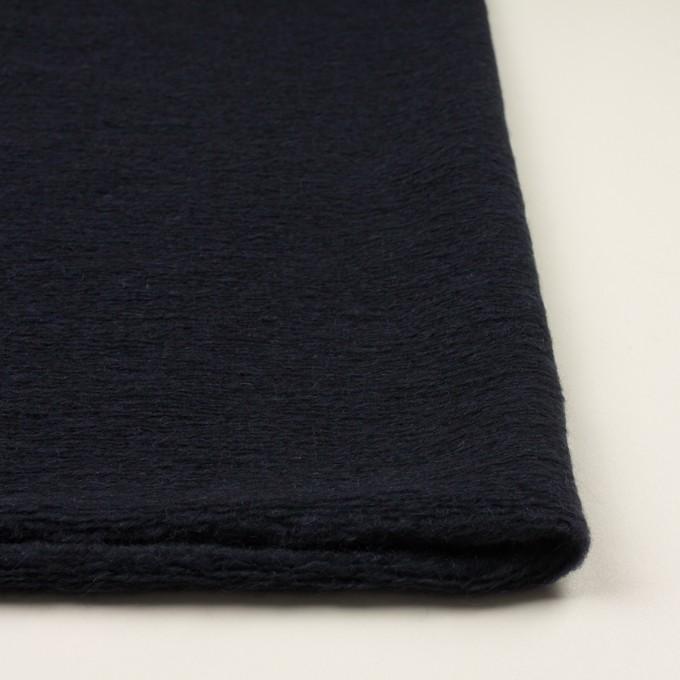 モヘア&ウール混×無地(アッシュネイビー)×ループニット_全2色_イタリア製 イメージ3