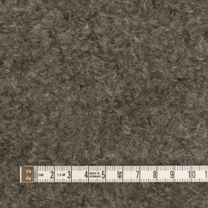 ウール&モヘア×無地(グレー)×アストラカン イメージ4