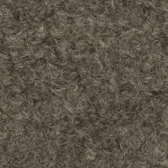 ウール&モヘア×無地(グレー)×アストラカン イメージ1
