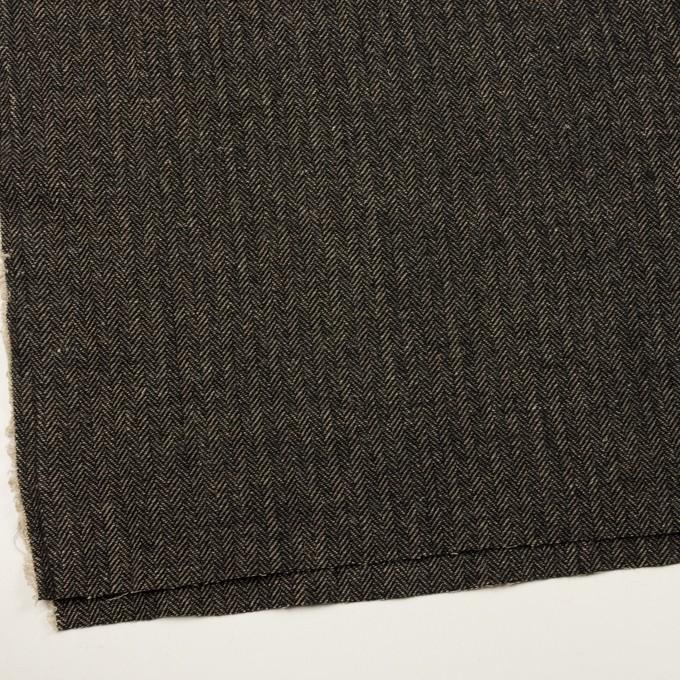 ウール&コットン×ミックス(ベージュ&ブラック)×ヘリンボーン イメージ2