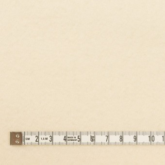 ウール×無地(クリーム)×サージ(圧縮加工) サムネイル4