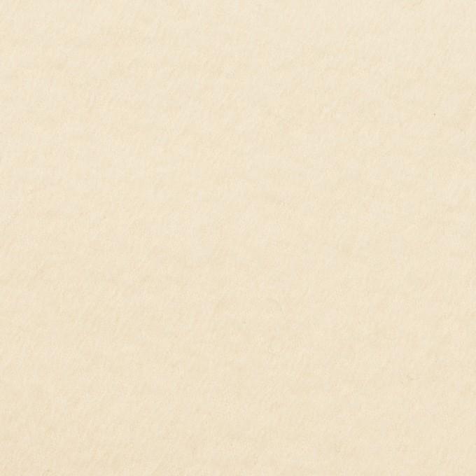 ウール×無地(クリーム)×サージ(圧縮加工) イメージ1