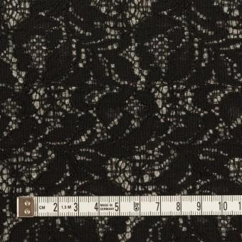アクリル&ウール混×フラワー(ブラック&グレー)×ラッセルレース&メッシュニット_全2色 サムネイル4