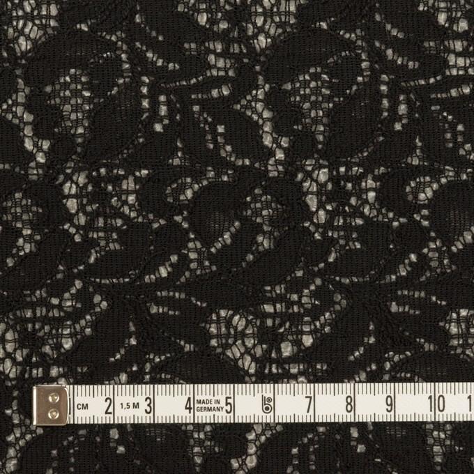 アクリル&ウール混×フラワー(ブラック&グレー)×ラッセルレース&メッシュニット_全2色 イメージ4