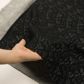 アクリル&ウール混×フラワー(ブラック&グレー)×ラッセルレース&メッシュニット_全2色 サムネイル5