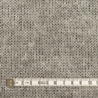 アクリル&ウール混×フラワー(ブラック&グレー)×ラッセルレース&メッシュニット_全2色 サムネイル6