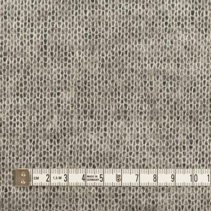 アクリル&ウール混×フラワー(ブラック&グレー)×ラッセルレース&メッシュニット_全2色 イメージ6