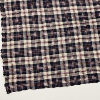 コットン&ポリウレタン×チェック(ネイビー&グレー)×ヘリンボーン・シャーリング サムネイル2