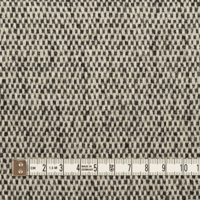 ウール&アクリル混×ミックス&無地(ブラック、アイボリー&オークル)×Wフェイスツイード イメージ4
