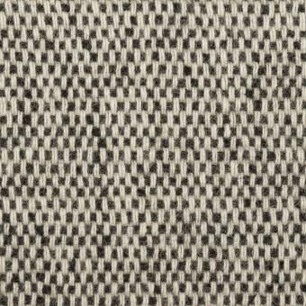 ウール&アクリル混×ミックス&無地(ブラック、アイボリー&オークル)×Wフェイスツイード