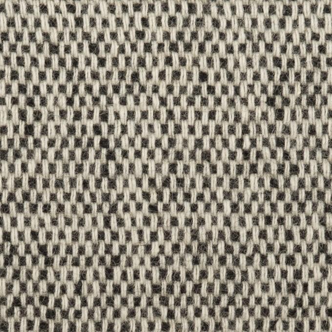 ウール&アクリル混×ミックス&無地(ブラック、アイボリー&オークル)×Wフェイスツイード イメージ1