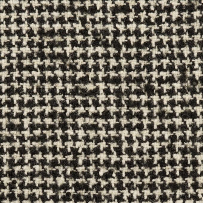 ウール&アクリル混×ミックス(ブラック&エクリュ)×ファンシーツイード・ストレッチ イメージ1