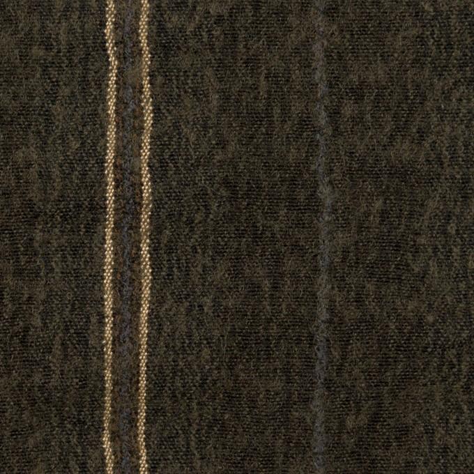 ウール&コットン×ストライプ(アッシュブラウン)×ガーゼ_全2色 イメージ1