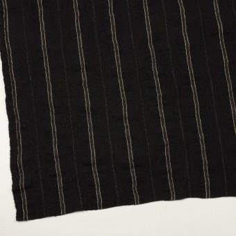 ウール&コットン×ストライプ(ブラック)×ガーゼ_全2色 サムネイル2