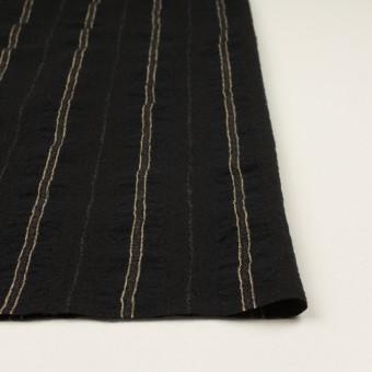 ウール&コットン×ストライプ(ブラック)×ガーゼ_全2色 サムネイル3