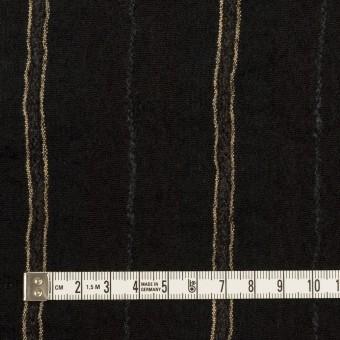 ウール&コットン×ストライプ(ブラック)×ガーゼ_全2色 サムネイル4