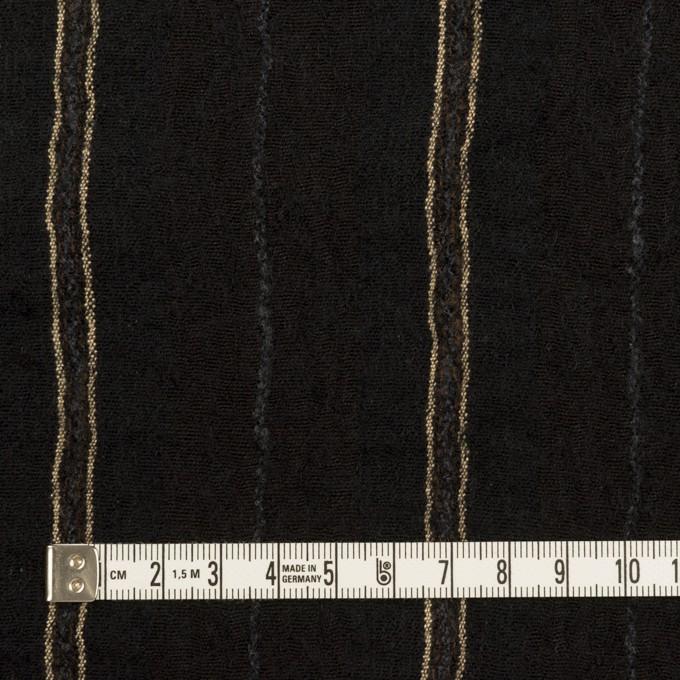ウール&コットン×ストライプ(ブラック)×ガーゼ_全2色 イメージ4