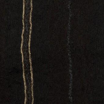 ウール&コットン×ストライプ(ブラック)×ガーゼ_全2色 サムネイル1
