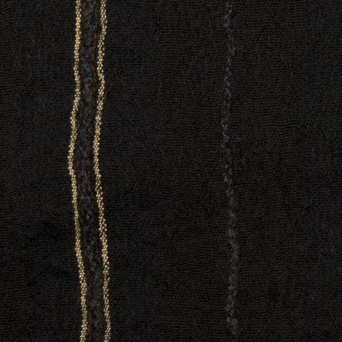 ウール&コットン×ストライプ(ブラック)×ガーゼ_全2色 イメージ1
