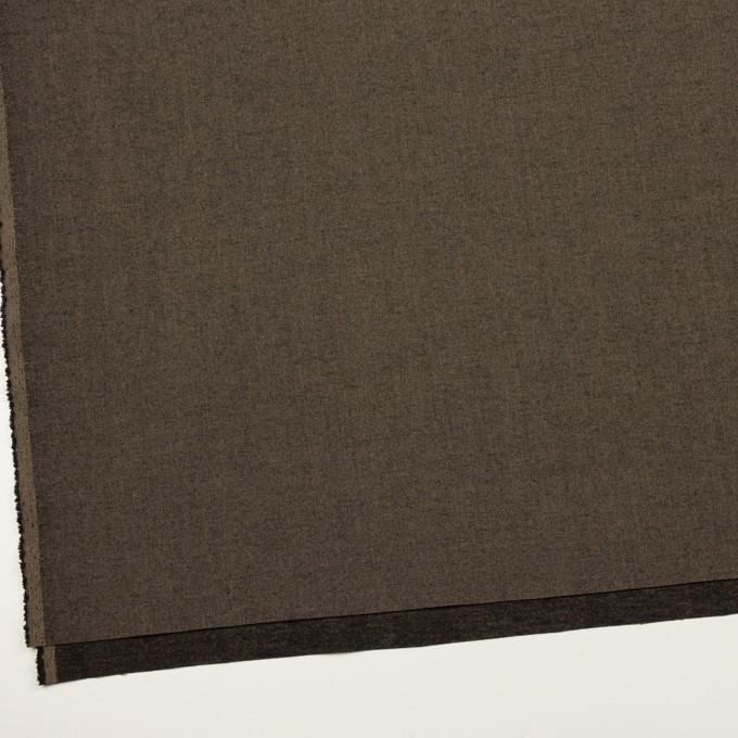 コットン&レーヨン混×無地(アッシュブラウン)×二重織ストレッチ イメージ2