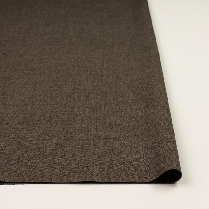 コットン&レーヨン混×無地(アッシュブラウン)×二重織ストレッチ イメージ3
