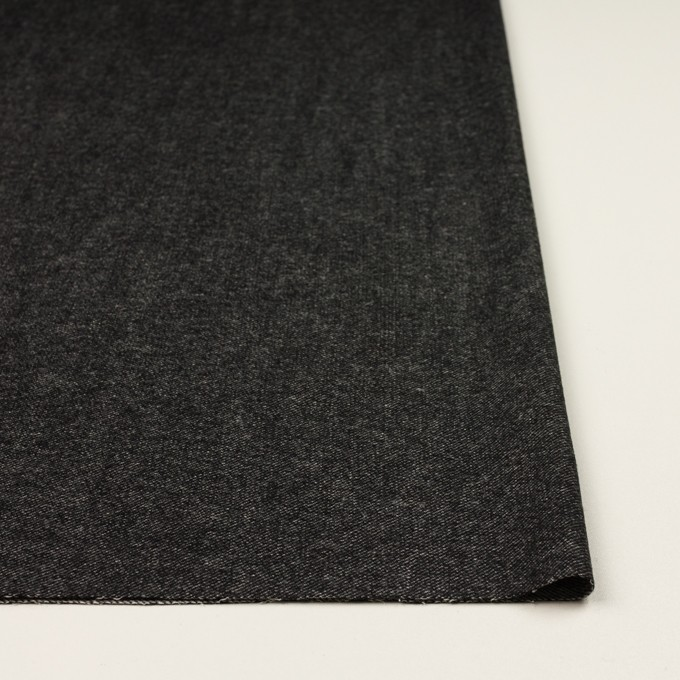 ウール&コットン混×無地(チャコールブラック)×ビエラストレッチ イメージ3
