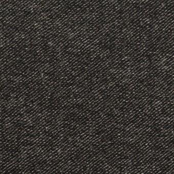 ウール&コットン混×無地(チャコールブラック)×ビエラストレッチ