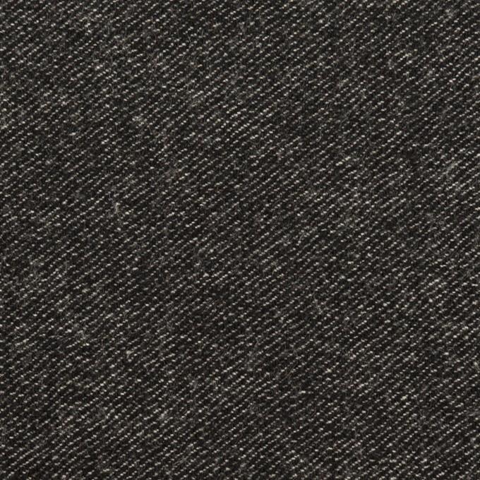 ウール&コットン混×無地(チャコールブラック)×ビエラストレッチ イメージ1