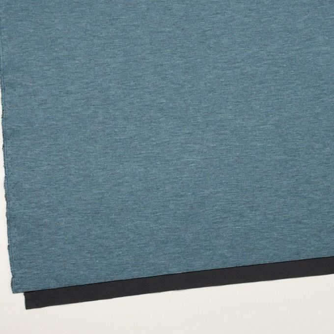 コットン&モダール×無地(スカイブルー&チャコールグレー)×Wニット イメージ2