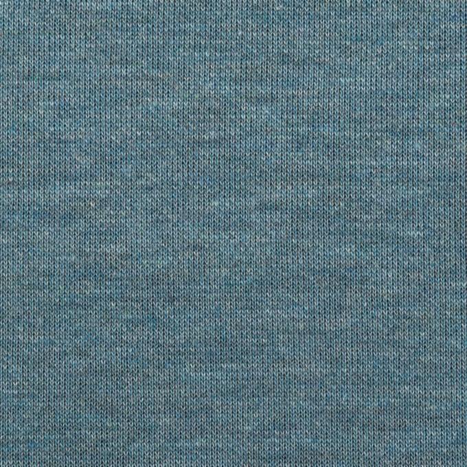 コットン&モダール×無地(スカイブルー&チャコールグレー)×Wニット イメージ1